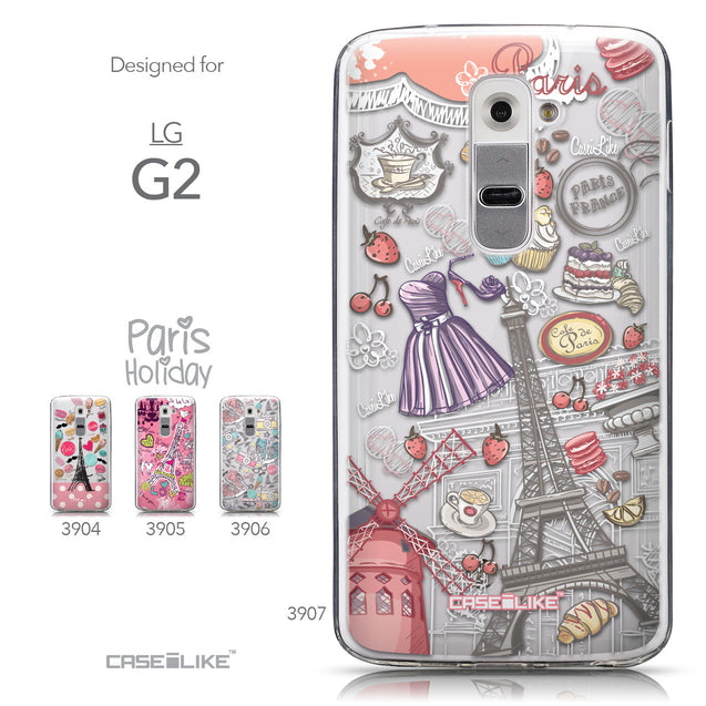 Collection - CASEiLIKE LG G2 back cover Paris Holiday 3907
