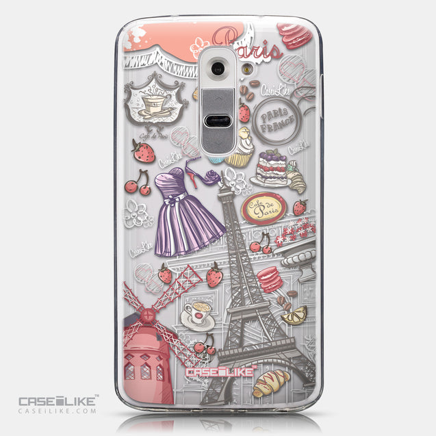 CASEiLIKE LG G2 back cover Paris Holiday 3907