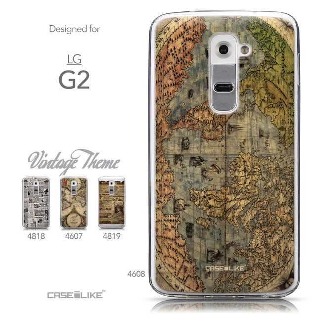 Collection - CASEiLIKE LG G2 back cover World Map Vintage 4608