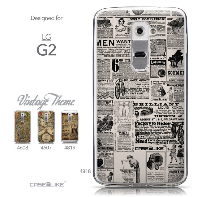 Collection - CASEiLIKE LG G2 back cover Vintage Newspaper Advertising 4818