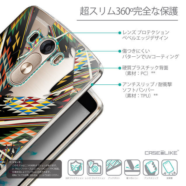 Details in Japanese - CASEiLIKE LG G3 back cover Indian Tribal Theme Pattern 2053