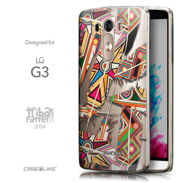 Front & Side View - CASEiLIKE LG G3 back cover Indian Tribal Theme Pattern 2054