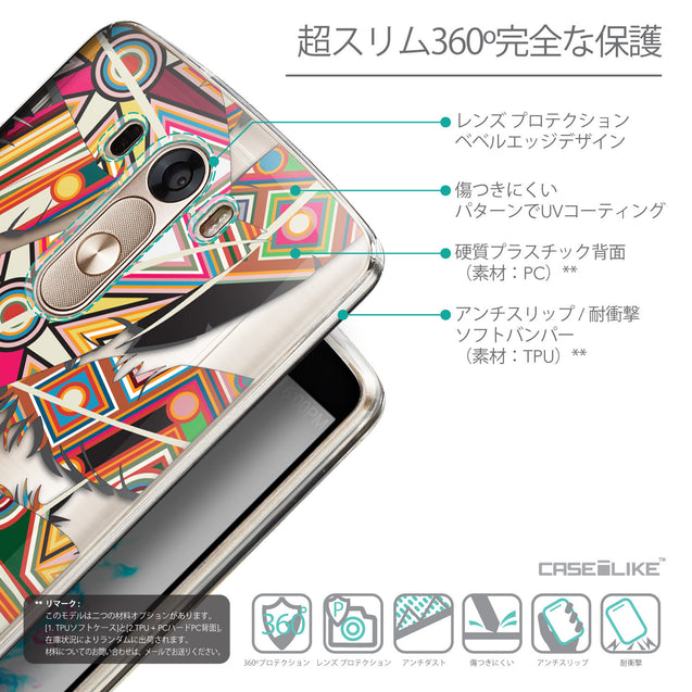 Details in Japanese - CASEiLIKE LG G3 back cover Indian Tribal Theme Pattern 2054