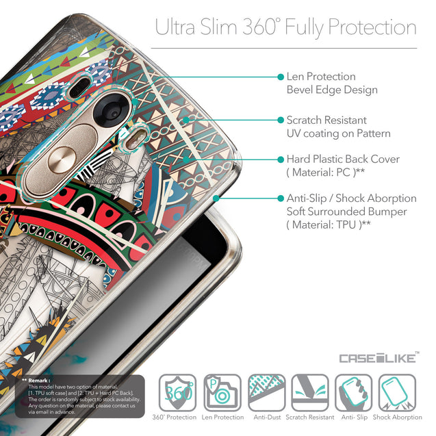 Details in English - CASEiLIKE LG G3 back cover Indian Tribal Theme Pattern 2055