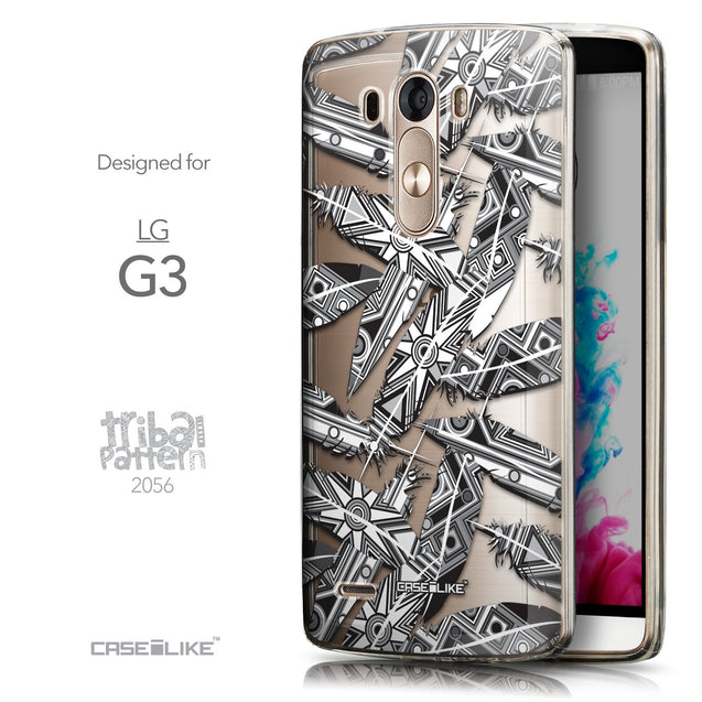 Front & Side View - CASEiLIKE LG G3 back cover Indian Tribal Theme Pattern 2056