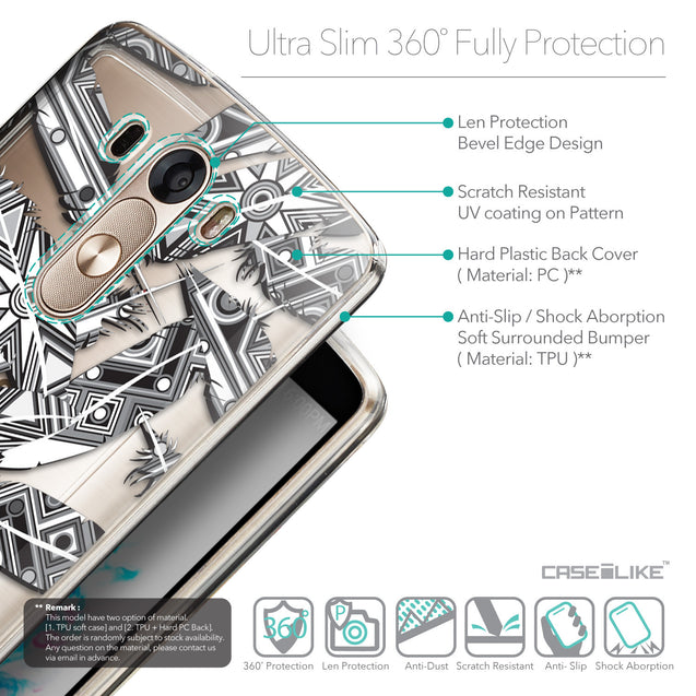 Details in English - CASEiLIKE LG G3 back cover Indian Tribal Theme Pattern 2056