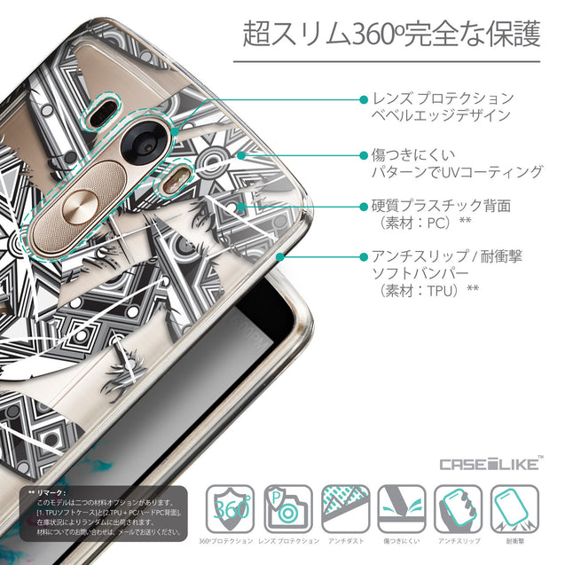 Details in Japanese - CASEiLIKE LG G3 back cover Indian Tribal Theme Pattern 2056