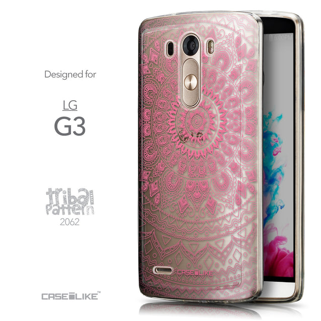 Front & Side View - CASEiLIKE LG G3 back cover Indian Line Art 2062