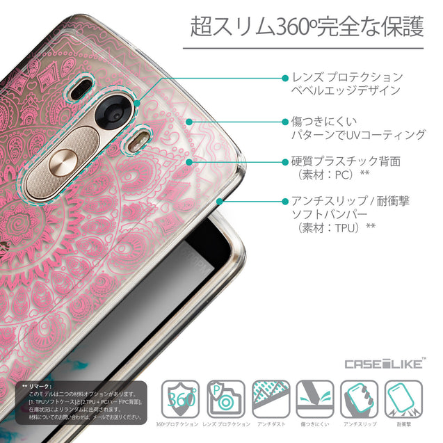 Details in Japanese - CASEiLIKE LG G3 back cover Indian Line Art 2062