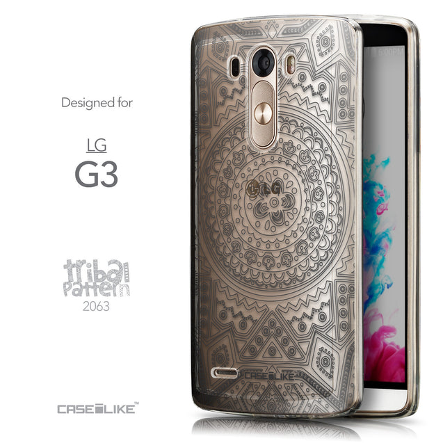 Front & Side View - CASEiLIKE LG G3 back cover Indian Line Art 2063