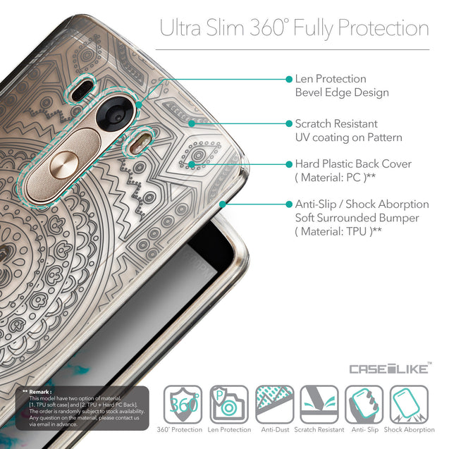 Details in English - CASEiLIKE LG G3 back cover Indian Line Art 2063