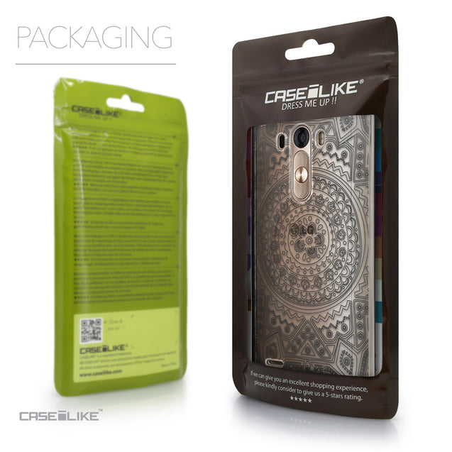 Packaging - CASEiLIKE LG G3 back cover Indian Line Art 2063
