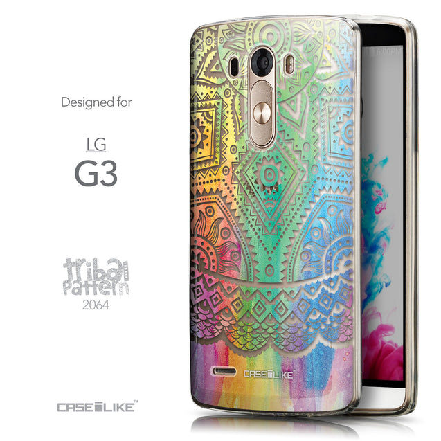 Front & Side View - CASEiLIKE LG G3 back cover Indian Line Art 2064