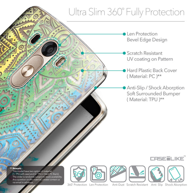 Details in English - CASEiLIKE LG G3 back cover Indian Line Art 2064