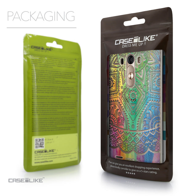 Packaging - CASEiLIKE LG G3 back cover Indian Line Art 2064
