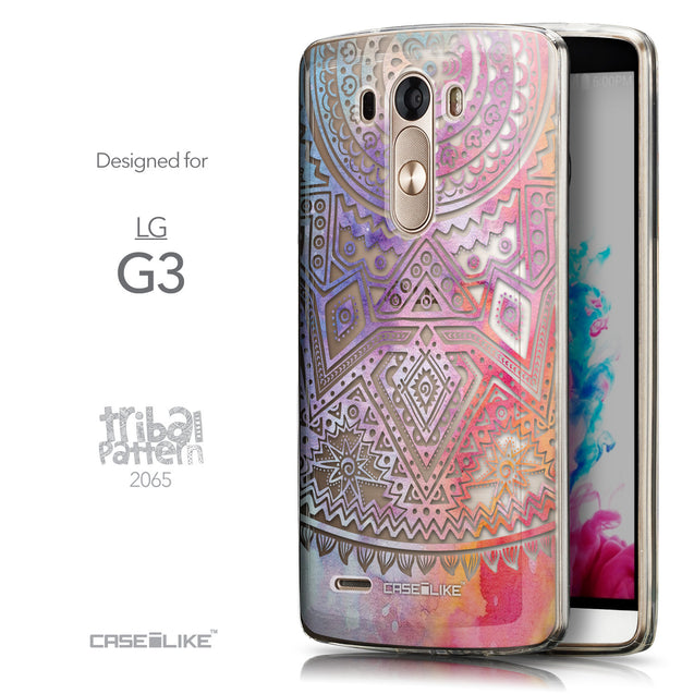 Front & Side View - CASEiLIKE LG G3 back cover Indian Line Art 2065