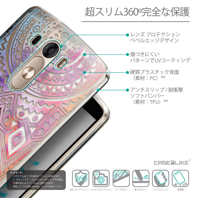 Details in Japanese - CASEiLIKE LG G3 back cover Indian Line Art 2065