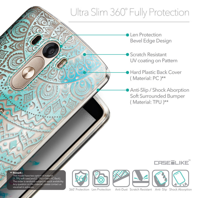 Details in English - CASEiLIKE LG G3 back cover Indian Line Art 2066