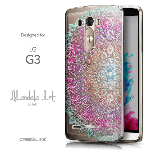 Front & Side View - CASEiLIKE LG G3 back cover Mandala Art 2090