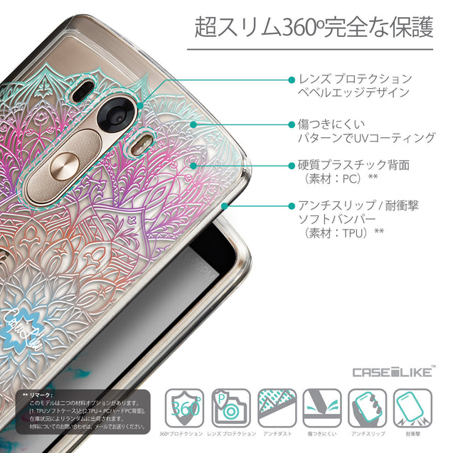 Details in Japanese - CASEiLIKE LG G3 back cover Mandala Art 2090