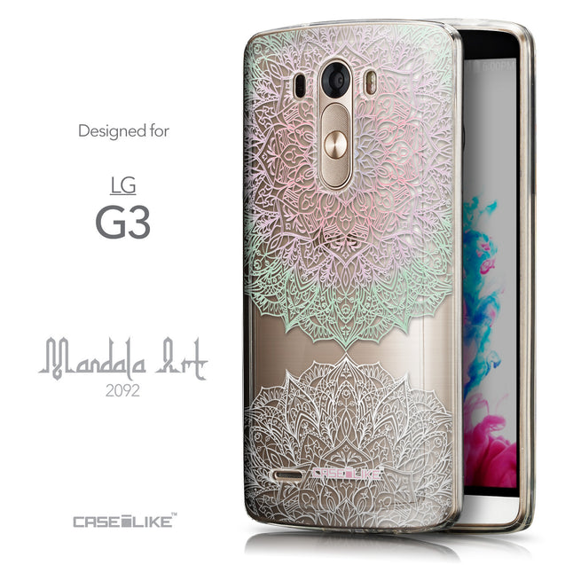 Front & Side View - CASEiLIKE LG G3 back cover Mandala Art 2092