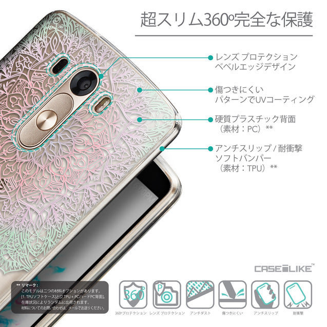 Details in Japanese - CASEiLIKE LG G3 back cover Mandala Art 2092