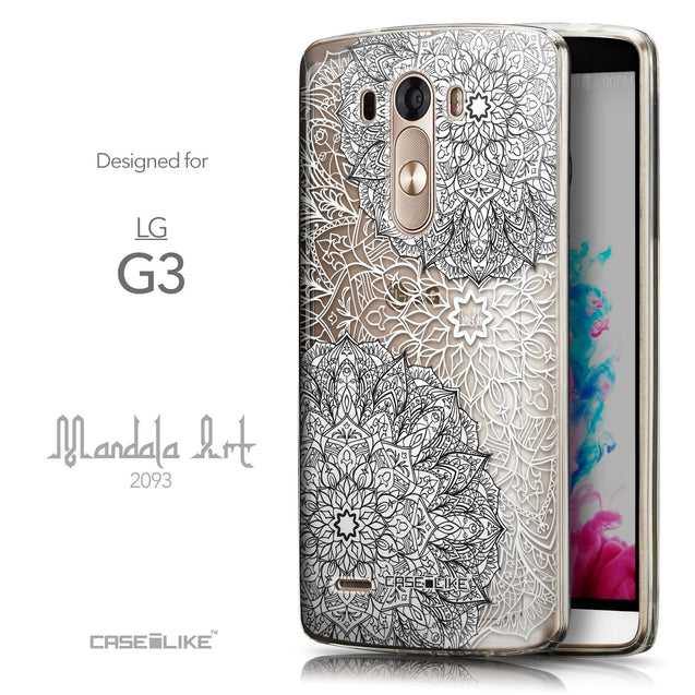 Front & Side View - CASEiLIKE LG G3 back cover Mandala Art 2093