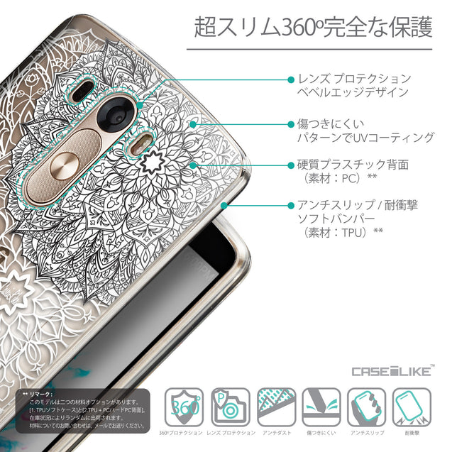Details in Japanese - CASEiLIKE LG G3 back cover Mandala Art 2093