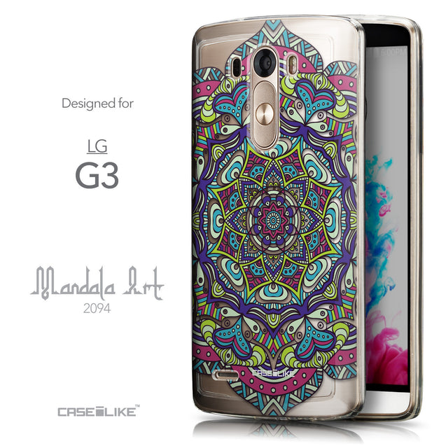 Front & Side View - CASEiLIKE LG G3 back cover Mandala Art 2094