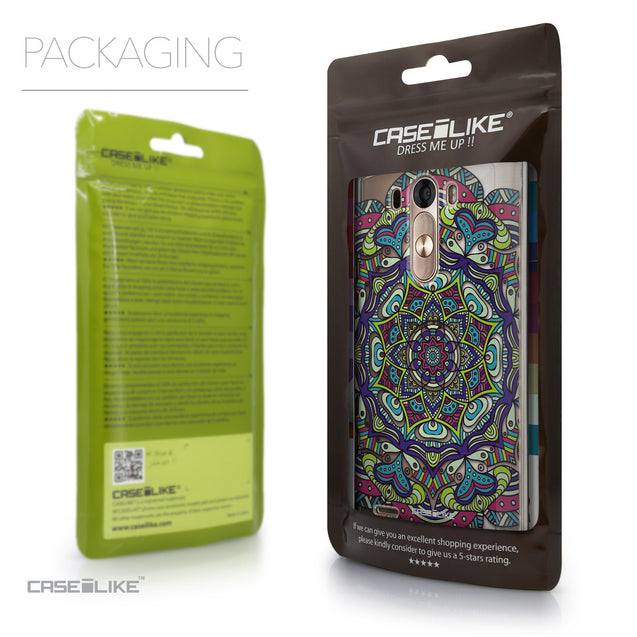 Packaging - CASEiLIKE LG G3 back cover Mandala Art 2094