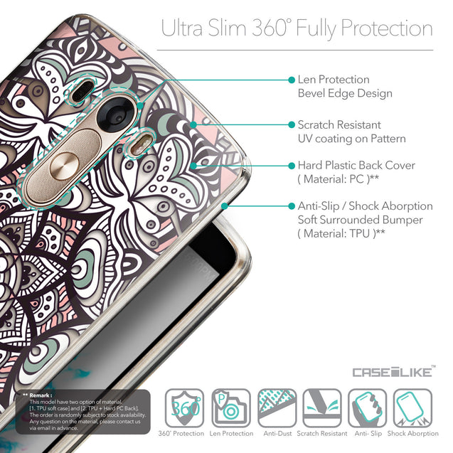 Details in English - CASEiLIKE LG G3 back cover Mandala Art 2095