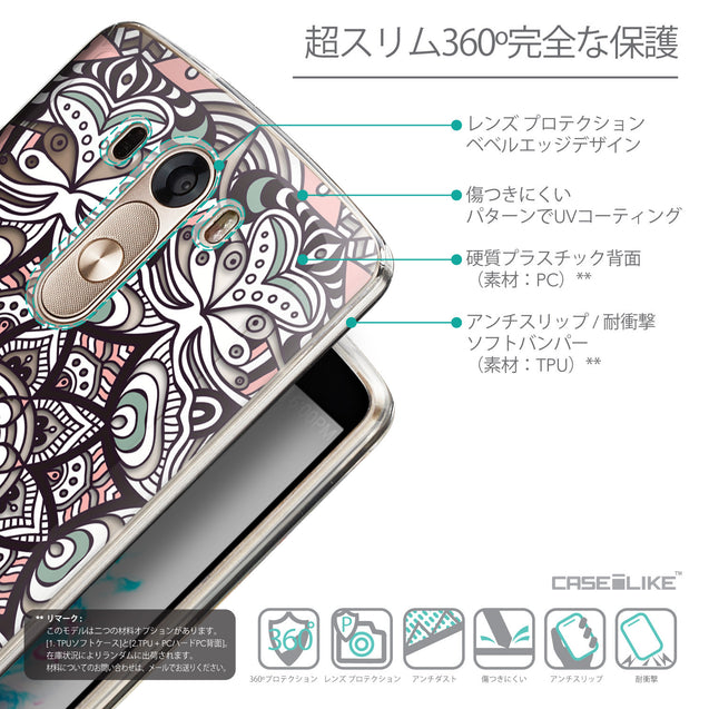 Details in Japanese - CASEiLIKE LG G3 back cover Mandala Art 2095