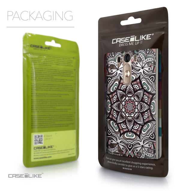Packaging - CASEiLIKE LG G3 back cover Mandala Art 2095