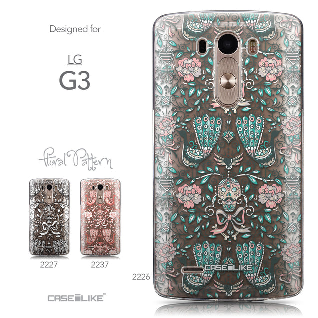 Collection - CASEiLIKE LG G3 back cover Roses Ornamental Skulls Peacocks 2226