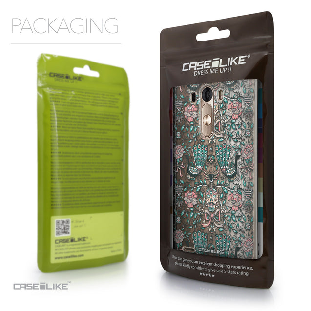 Packaging - CASEiLIKE LG G3 back cover Roses Ornamental Skulls Peacocks 2226