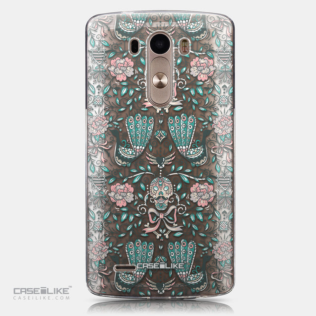 CASEiLIKE LG G3 back cover Roses Ornamental Skulls Peacocks 2226