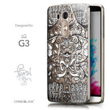 Front & Side View - CASEiLIKE LG G3 back cover Roses Ornamental Skulls Peacocks 2227