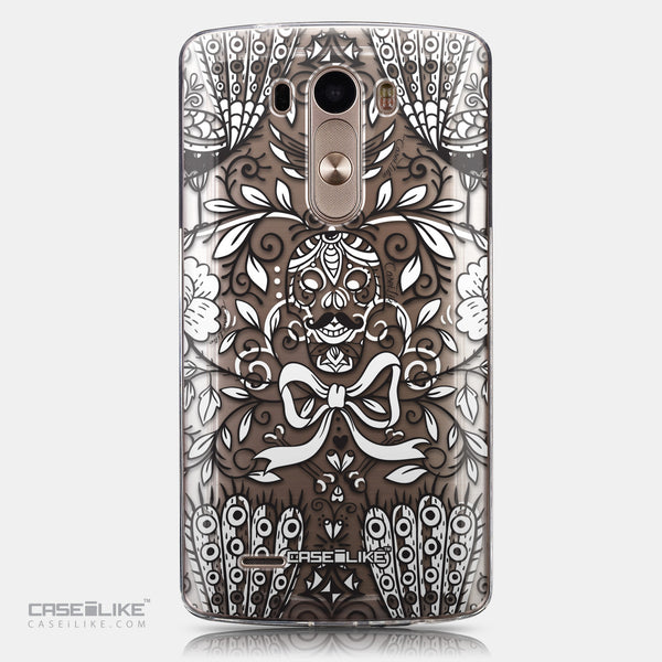 CASEiLIKE LG G3 back cover Roses Ornamental Skulls Peacocks 2227