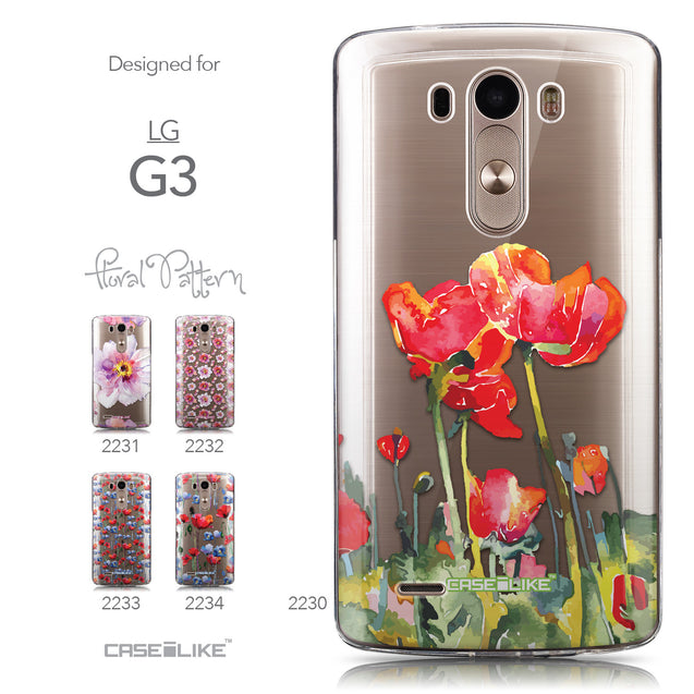 Collection - CASEiLIKE LG G3 back cover Watercolor Floral 2230