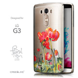 Front & Side View - CASEiLIKE LG G3 back cover Watercolor Floral 2230
