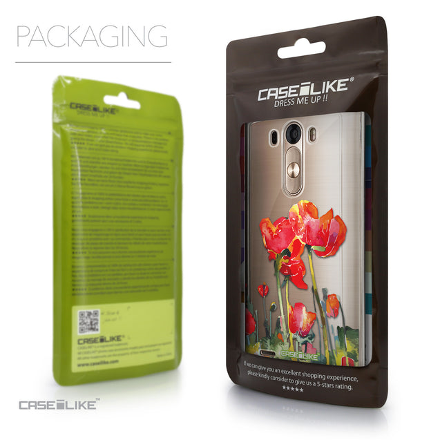 Packaging - CASEiLIKE LG G3 back cover Watercolor Floral 2230