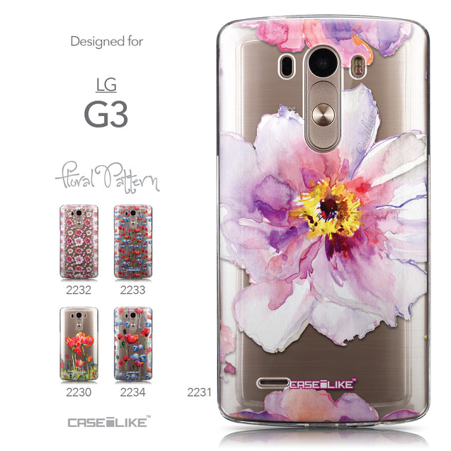 Collection - CASEiLIKE LG G3 back cover Watercolor Floral 2231