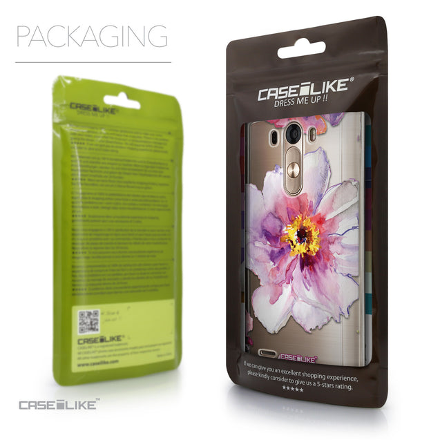 Packaging - CASEiLIKE LG G3 back cover Watercolor Floral 2231