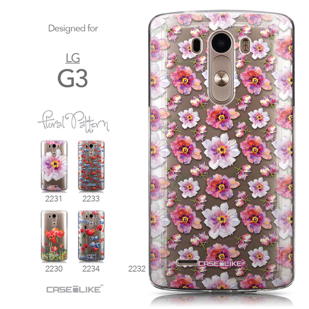 Collection - CASEiLIKE LG G3 back cover Watercolor Floral 2232