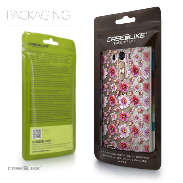 Packaging - CASEiLIKE LG G3 back cover Watercolor Floral 2232