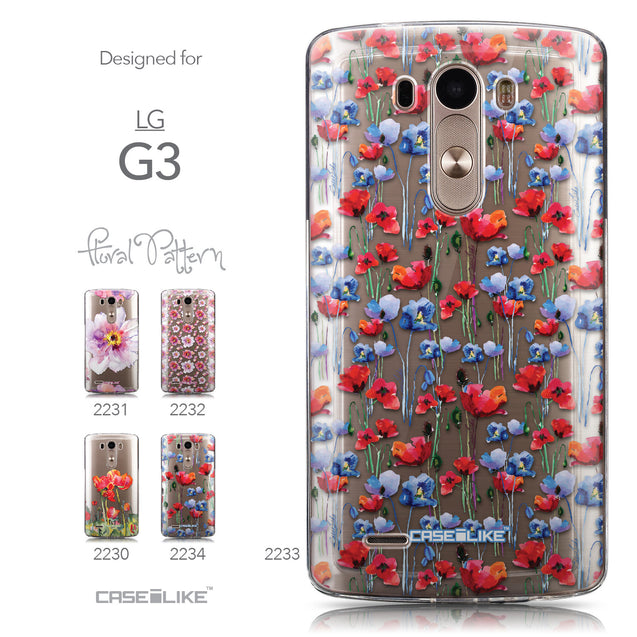 Collection - CASEiLIKE LG G3 back cover Watercolor Floral 2233