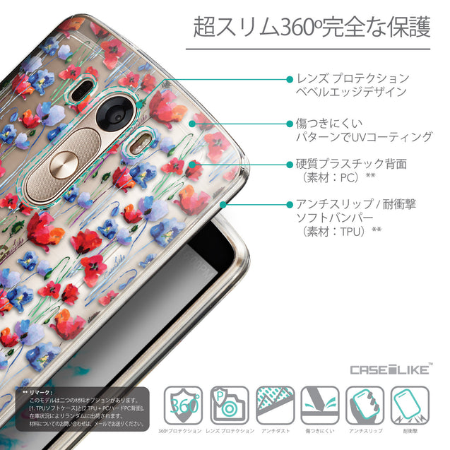Details in Japanese - CASEiLIKE LG G3 back cover Watercolor Floral 2233
