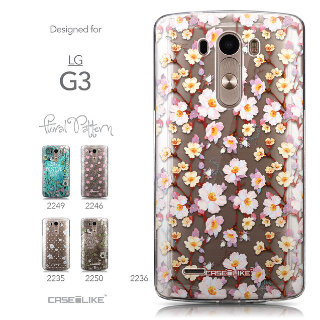 Collection - CASEiLIKE LG G3 back cover Watercolor Floral 2236