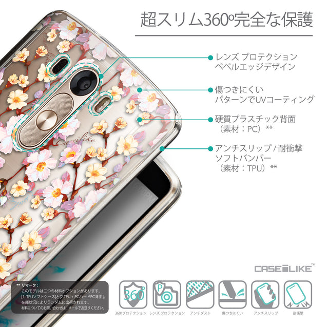 Details in Japanese - CASEiLIKE LG G3 back cover Watercolor Floral 2236