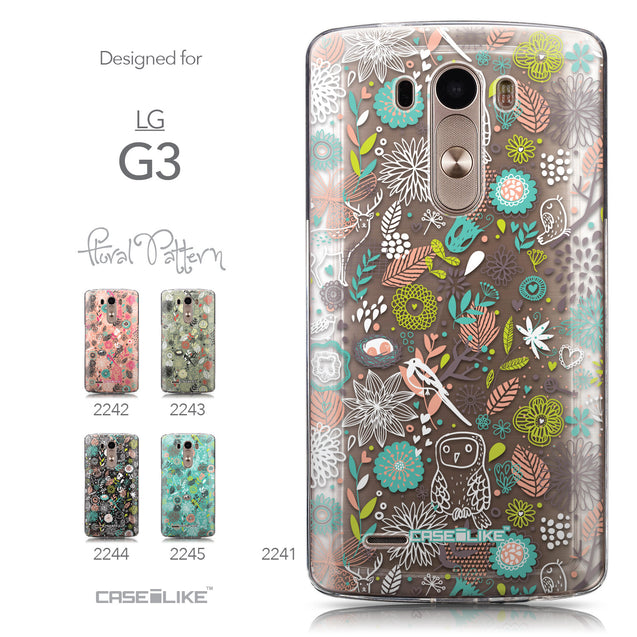 Collection - CASEiLIKE LG G3 back cover Spring Forest White 2241